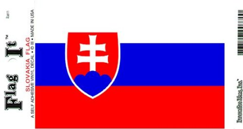 Slovakia Heavy Duty Vinyl Bumper Sticker (3 x 5 Inches)