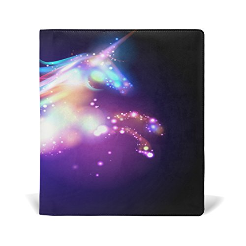 My Daily Colorful Galaxy Unicorn Reusable Leather Book Cover 9 x 11 inch for Medium to Jumbo Size Hardcover Schoolbooks Textbooks by ALAZA