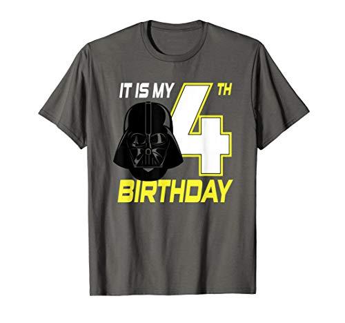 Star Wars Darth Vader 4th Birthday T-Shirt (Star Wars Birthday Shirt)