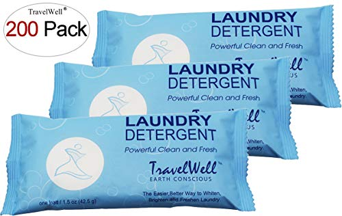 individually wrapped powder laundry detergent