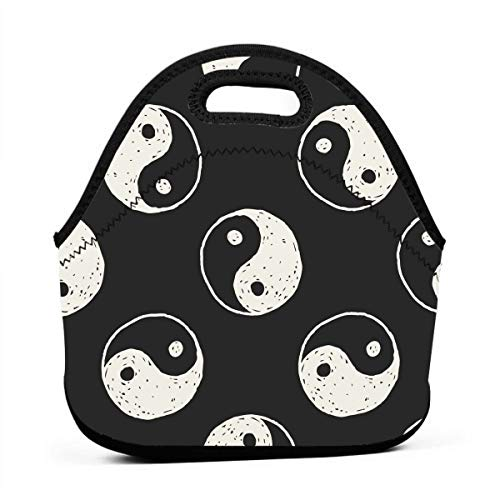 Warmer Towel Taiji (Chinese Taiji Lover Yinyang China Thermal Neoprene Kids Insulated Lunch Portable Carry Tote Picnic Storage Bag Lunch Box Food Bag Gourmet Handbag Cooler Warm Pouch Bag for School Work Office)