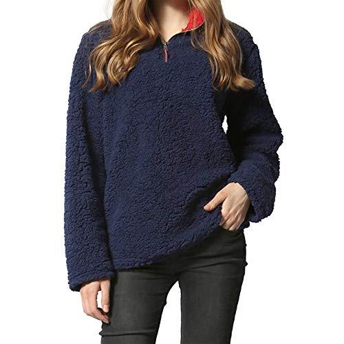 - Clearance Women Tops LuluZanm Winter Warm Blouse Sweatshirt Zipper Fleece Pullover Womens Long Sleeve Top