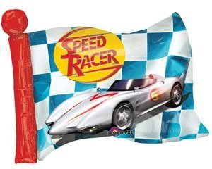 Speed Racer Flag - Single Source Party Supplies - 27
