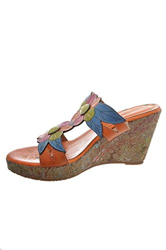 Sandali, nu piedi laura vita verdi, colore: arancione