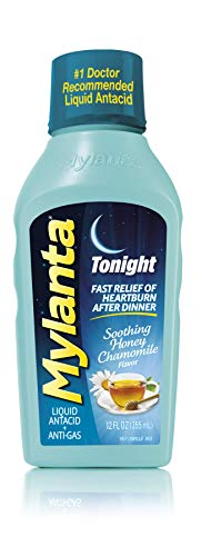 Mylanta Antacid and Gas Relief, Tonight Formula, Honey-Chamomile, 12 Fluid Ounce