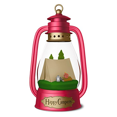 Hallmark 2016 Keepsake Ornament, Happy Campers Lantern made our list of the most unique camping Christmas tree ornaments to decorate your RV trailer Christmas tree with whimsical camping themed Christmas ornaments!