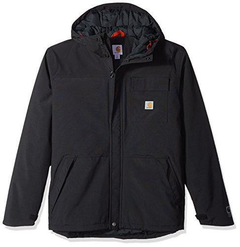 Carhartt Men's Size Big & Tall Insulated Shoreline Jacket, Black 2X-Large/Tall
