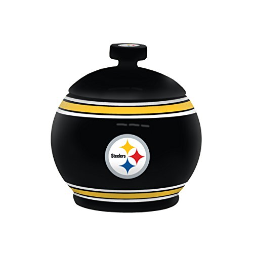 Pittsburgh Steelers Candy (NFL Pittsburgh Steelers Sculpted Game Time Jar, 12-ounce, Black)