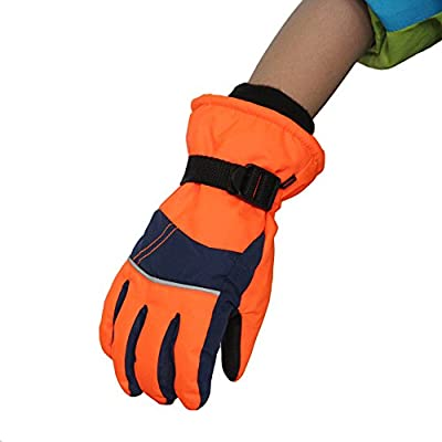 Anti-Slip Wear-Resistant Windproof Thickened Warm Gloves Outdoor Sports Riding Skiing Gloves for Children