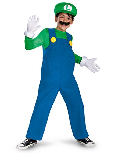 Mario and Luigi Costume - Large (Mario And Luigi Costumes Kids)