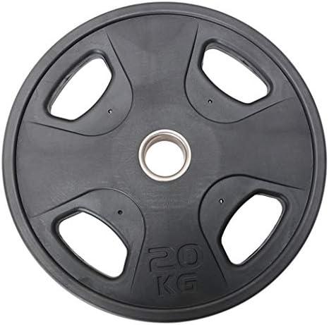 Ownlife Gewichtplatte, 4 Löcher Handgriff Barbell Platte, Fractional Gewicht Teller, Gewichtheben Trainingsgerät for Haushaltsfitnesstraining, Einzel (Größe : 20KG)