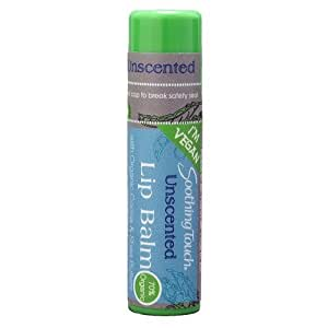 Soothing Touch Lip Balm, Vegan Unscented, 0.25 Ounce