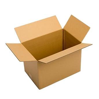 Pratt PRA0088 Caja de cartón reciclado ondulado, caja cubo de cartón monocapa estándar con acanalado