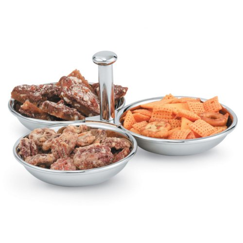 Vollrath 46636 3-Compartment S/S 12 Ounce Condiment Server