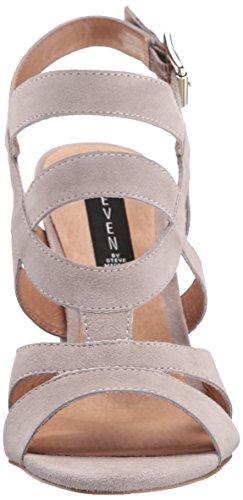 Steve Madden Women's Cassndra Dress Sandal, Black Taupe Suede
