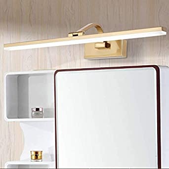 4000k Moderne Feuchtigkeitsfest Spiegel Schrank Licht,gold Metall Finish Verstellbar Make-up Lampe Badleuchte Wandleuchte 8zoll Von Der Wand-gold 51cm 20inch //12w