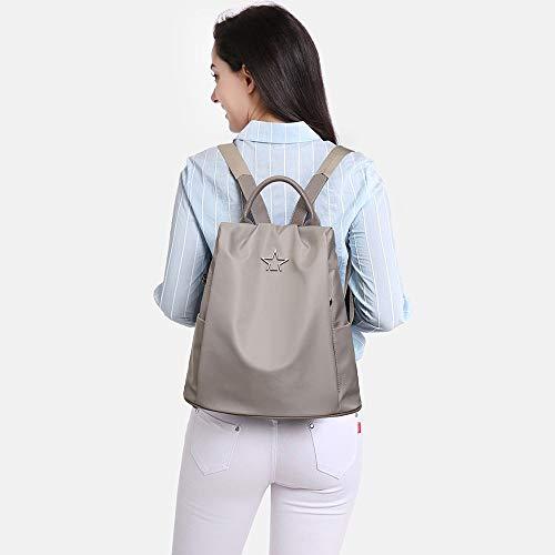 Viaje Bolsa Niñas Gran Gray Para Antirrobo Damas Mujer Mochila Capacidad Cuero De Zyhjama 8Z0q10