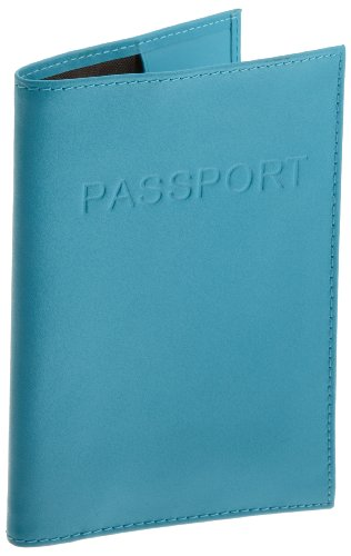 Lewis N. Clark  Leather Passport Case,Blue,One Size