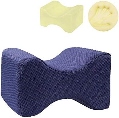 MercuryGo 足挟むメモリコットン 足枕 足楽 遅いリバウンドひざ枕 足膝背 むくみ/疲れ 体圧分散 カバー洗える (紺)