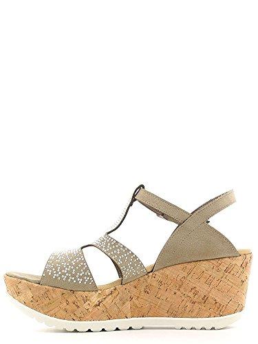 Heeled Women High Taupe Keys 5457 Sandals SxURESBq