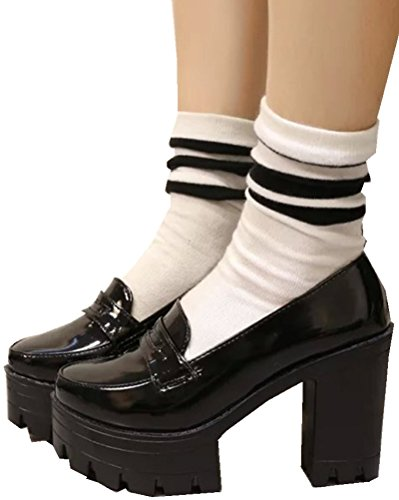 Kvinners Jenter Lolita Lave Topp Japanske Studenter Maid Uniform Sko Oxford Sko Svart