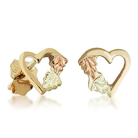 Black Hills Gold Heart Earrings