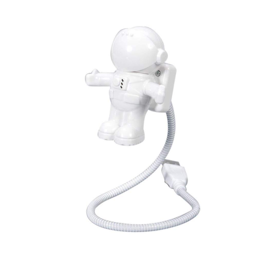 YaptheS cré atif Style Astronaute Astronaute Flexible Mini LED USB Lampe pour Ordinateur Portable lumiè re Blanche Nuit Domestique lé gè re