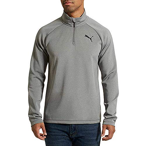 PUMA Men's Active ¼ Zip Pullover Gray - Large