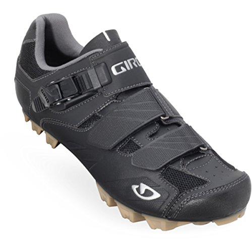 Giro Privateer - Zapatillas de ciclismo de montaña para hombre (hebilla con cierre de seguridad) Negro (Black)