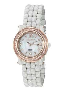 Stuhrling Original Women's Black Dial Casual Watch Ceramic Strap - 955.12E4W7