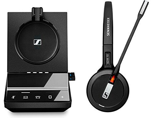 Sennheiser Enterprise Solution SDW 5016 Single-Sided Wireless DECT Headset for Desk Phone Softphone/PC& Mobile Phone Connection Dual Microphone Ultra Noise-Canceling, Black by Sennheiser Enterprise Solution (Image #1)