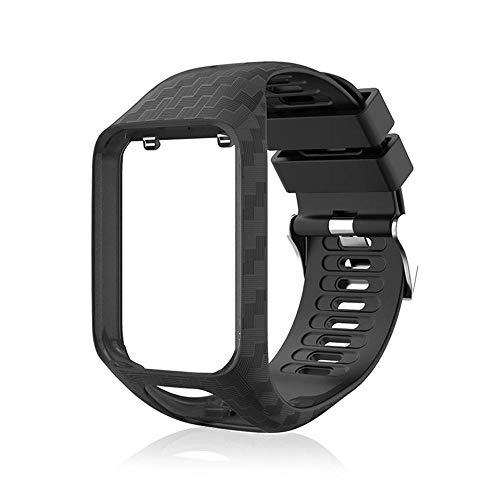 Peedeu Tomtom Uhrenarmband, Silikon Ersatzband Sport Armband für Tomtom Wechselarmband Runner 2 / Runner 3 / Spark 3…