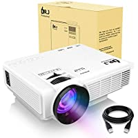 DR.J (2018 Upgraded) 4Inch Mini Projector with 170