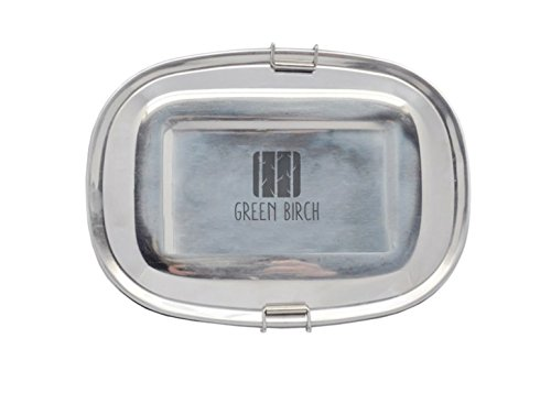 Stainless Steel Lunch Box Sustainable Green Birch Large