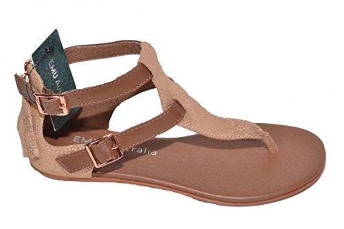 Emu Hovea (W11500) Leather Sandals, Rose Gold, UK 5, EUR 38