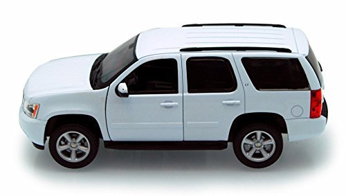 Welly 2008 Chevy Tahoe SUV 1/24 Scale Diecast Model Car White (Tahoe Model Cars)