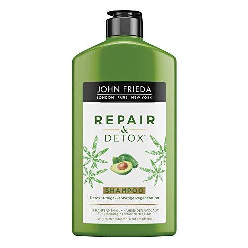 John Frieda & Detox Shampoo with Avocado Oil and Green Tea for Damaged Hair, 250 ml