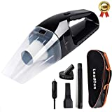 Car Vacuum Cleaner DC 12V Wet Dry Auto Portable Handheld Auto Vacuum Cleaner for Car 4000Pa Suction 120W Car Hoover with HEAP Filter & 5 Meters/16.4 FT Power Cord(1 Yr Warranty) Black