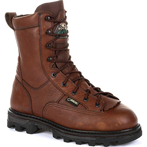 ROCKY Men's Bearclaw 3D 600G Insulated Waterproof Outdoor Boot Ankle, Dark Brown, 10.5 M US