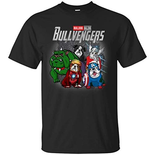 Funny Bulldog Lovers Bullvengers Dog T-Shirt Youth T-Shirt (YM, Black) - Others T-shirt Ash Grey