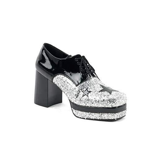 Mens Costume Shoes (Funtasma by Pleaser Men's Halloween Glamrock-02,Black/Silver,M (US Men's 10-11)