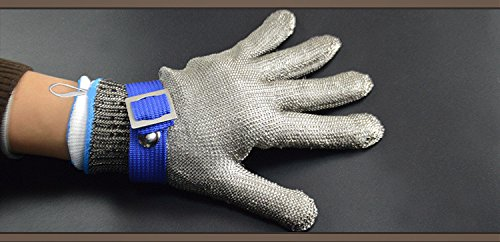 Size L Safety Cut Proof Stab Resistant Glove,Stainless Steel Metal Mesh Butcher Glove, High Performance Level 5 Protection Glove by Debris time (Image #1)