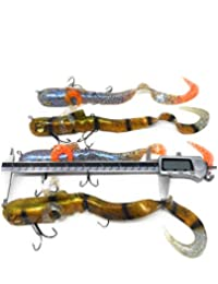 # 5 Mejor cebos suaves de Kit para Bass Pesca Walleye Crappie Panfish trucha