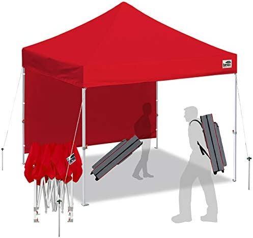Eurmax Smart 10'x10' Pop up Canopy Tent Outdoor Festival Tailgate Event Vendor Craft Show Canopy Instant Shelter