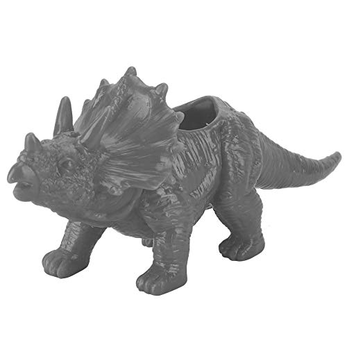 Boquite Plant Pot, Personality Animal Triceratops Flower Pot Cactus Succulent Garden Decoration(Gray)