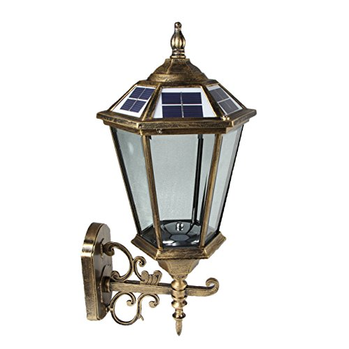 Large Outdoor Solar powered LED Wall Light Lamp BO17 by Legoyo