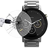 CEDO® Round edge 2.5 D Tempered glass for Moto 360 42mm 2nd Gen Smartwatch (Pack Of 2) (Watch not included)