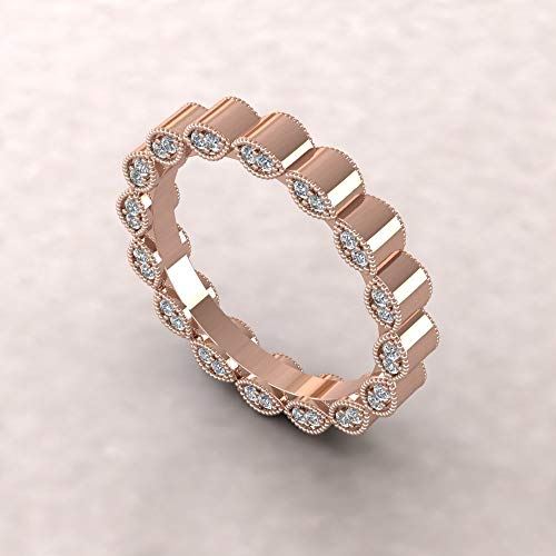 Fancy Wedding Band - Marquise Casted Diamond