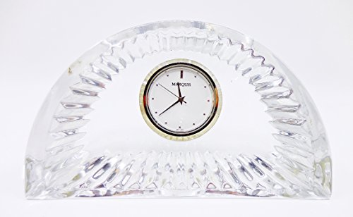 Waterford Crystal Desk Clock,1/2 circle shape,second hand,Marquis