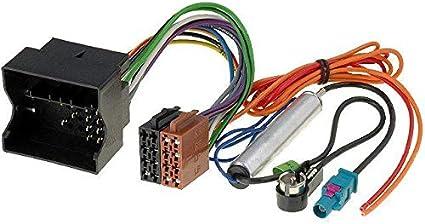 Conector ISO para radio de coche Citroen C2 C3 C4 C5 Peugeot AP03 + adaptador antena